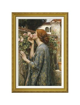 'the Soul Of The Rose' By John William Waterhouse Framed Painting Print by Global Gallery