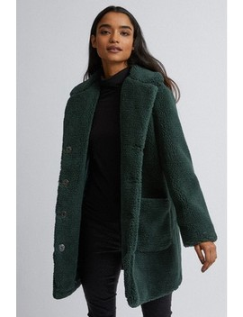 Dorothy Perkins Petite Longline Teddy Coat by Next
