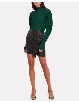 Puff Sleeve Turtleneck Sweater by Caroline Constas