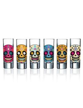 Luminarc Sugar Skull Shot Glasses (Set Of 6) by Bed Bath And Beyond