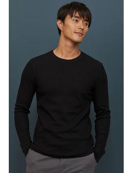 Shirt Van Gewafeld Tricot by H&M