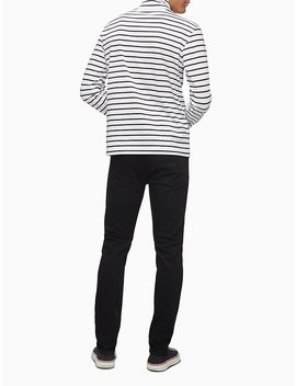 Regular Fit Stripe Turtleneck by Calvin Klein