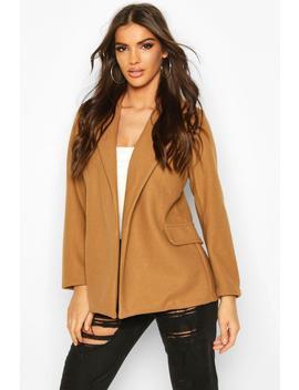 Wool Look Blazer Coat by Boohoo