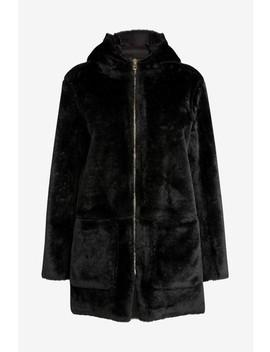 Dark Green Faux Fur Hooded Jacket by Next