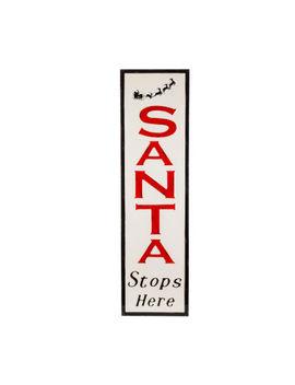 """Santa Stops Here"" Yard Art by Asstd National Brand"