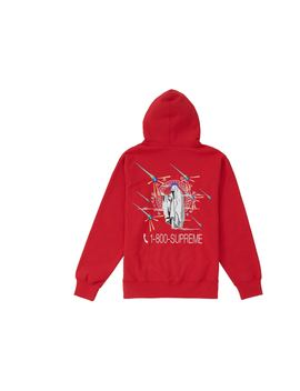 Supreme 1 800 Hooded Sweatshirt Red by Stock X