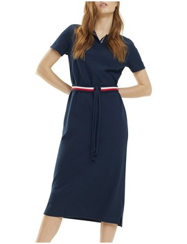 Th Essential Polo Dress Ss by Tommy Hilfiger