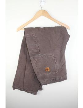 Vintage Carhartt Heavy Canvas Pants 40x32 Distressed by Vintage  ×  Carhartt  ×  Streetwear  ×