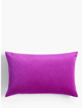John Lewis & Partners Velvet Cushion, Dahlia by John Lewis & Partners