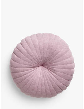 House By John Lewis Round Jersey Cushion, Mauve by House By John Lewis