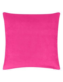 John Lewis & Partners Cotton Velvet Cushion, Hibiscus by John Lewis & Partners