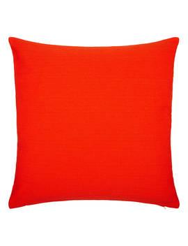 John Lewis & Partners Plain Cotton Cushion, Chilli by John Lewis & Partners