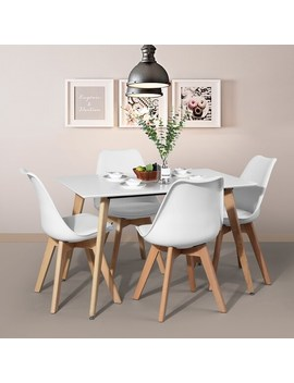 Carson Carrington Satenas Metal And Wood White Top Dining Table by Carson Carrington