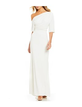 One Shoulder Fitted Gown by Badgley Mischka