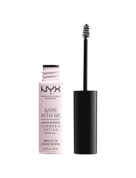 Nyx Professional Makeup Bare With Me Cannabis Sativa Seed Oil Brow Setter   Clear by Nyx Bare With Me