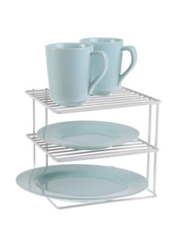 Salt™ 2 Tier Corner Shelf In White by Bed Bath And Beyond