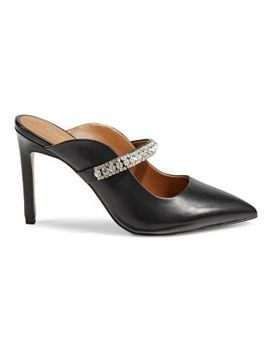 Duke Crystal Strap Leather Mules by Kurt Geiger London