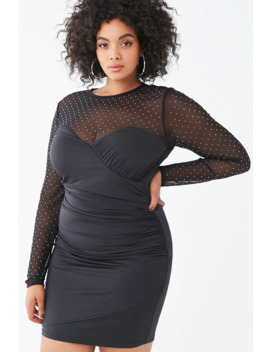 Plus Size Rhinestone Bodycon Dress by Forever 21