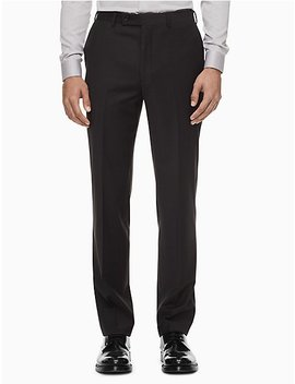 Skinny Fit Charcoal Grey Suit Pants by Calvin Klein