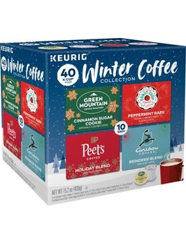 Winter Coffee Collection Variety Pack K Cup Pods (40 Pack) by Keurig
