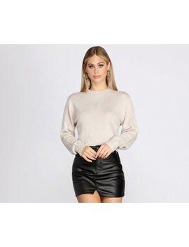 Basically Cute Cropped Sweater by Windsor