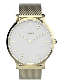 Transcend™ 38mm Stainless Steel Mesh Band Watch by Timex