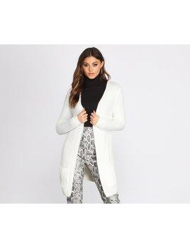 Fuzzy Mid Length Cardigan by Windsor
