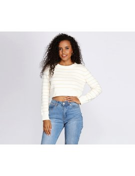 Stand Out Striped Cropped Sweater by Windsor