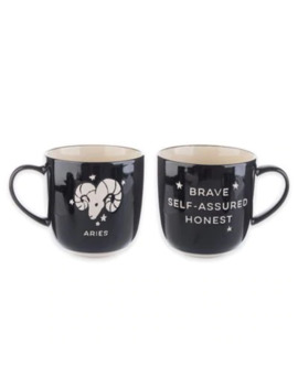 Formations Aries Zodiac Mug In Black/White by Bed Bath And Beyond
