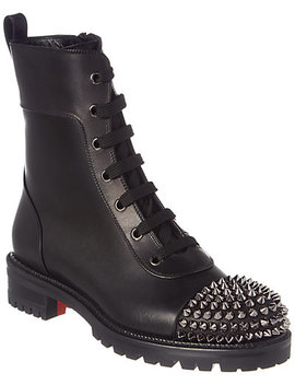 Christian Louboutin Ts Croc Leather Combat Boot by Christian Louboutin
