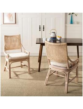 Donatella Natural White Wash Cotton Chair by Safavieh