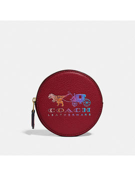 Round Coin Case With Rexy And Carriage by Coach