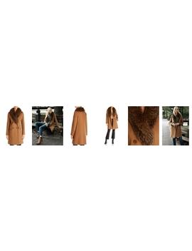 Fleurette Wool Coat   100% Exclusive by Maximilian Furs