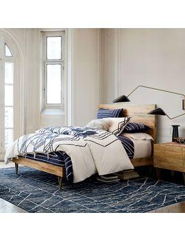 Roar + Rabbit™ Brass Geo Inlay Bed by West Elm
