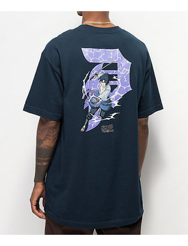Primitive X Naruto Sasuke P Navy T Shirt by Zumiez