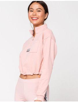 Adidas Half Zip Pink Sweatshirt by Adidas