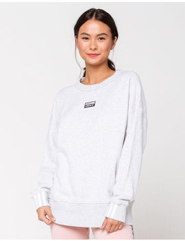 Adidas Light Grey Womens Oversized Sweatshirt by Adidas