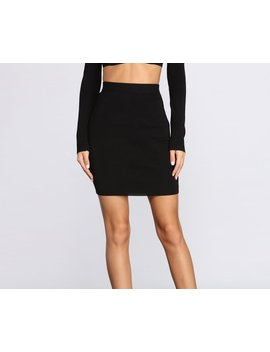 Cute 'fit In Knit Midi Skirt by Windsor