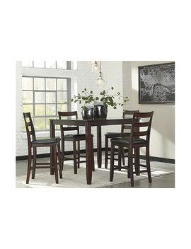 Coviar Counter Height Dining Room Table And Bar Stools (Set Of 5) by Ashley Homestore