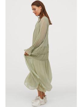 Crêped Chiffon Dress by H&M