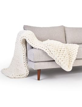 Bearaby Tencel™ Weighted Blanket   Stone White by West Elm