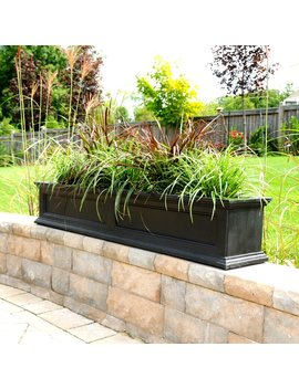 Black Fairfield Self Watering Plastic Window Box Planter by Mayne Inc.
