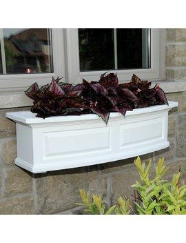 White Nantucket Self Watering High Grade Polyethylene Window Box Planter by Mayne Inc.
