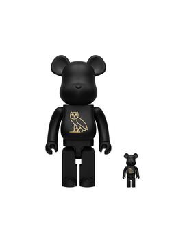 Bearbrick X Ovo Og Owl 100% & 400% Collectible Set Black by Stock X