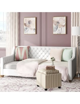 Pihu Tufted Upholstered Twin Daybed by Willa Arlo Interiors