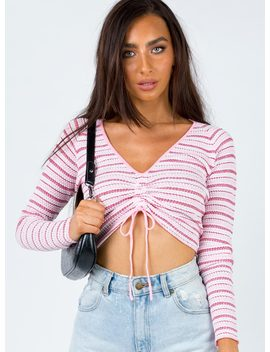 Javor Top Pink Stripe by Princess Polly