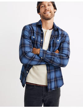 Flannel Long Sleeve Workshirt In Amory Plaid by Madewell