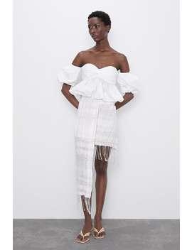 Asymmetric Skirt With Fringing by Zara