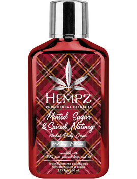 Travel Size Minted Sugar & Spiced Nutmeg Herbal Body Crème by Hempz