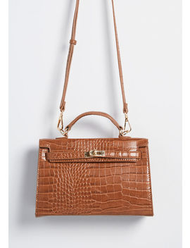 Save The Best For Last Croc Satchel by Modcloth